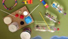 Alunos do 2º ano criam instrumentos musicais com sucata