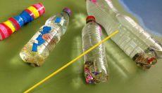 Alunos do 2� ano criam instrumentos musicais com sucata