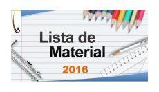 Lista de Material Escolar 2016