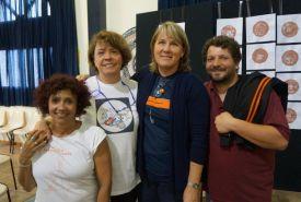 Marli, Carmen, Gizele e Fabrizio, os professores de Artes do Anjo