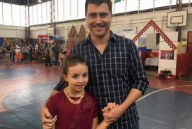 Guilherme Costa com a filha Gabriela