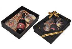 Caixa Laser c/ Lambrusco + Biscolate redondo+ 1 Ta�a champagne nadir+ 7 BB chocomousse acetato redon