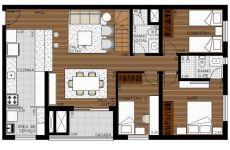 Duplex 3 dormitórios - Piso Inferior