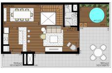 Duplex 3 dormitórios - Piso Superior