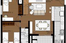 Duplex 2 Dormitórios + Suíte Master - Piso Inferior