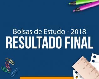 Resultado do Processo de Bolsas de Estudo - 2018