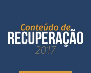 Conteúdos de Recuperação 2017