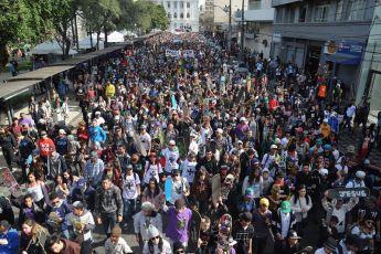 Evento de skatistas muda trânsito no Centro Cívico no domingo