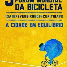 3º Fórum Mundial da Bicicleta começa dia 13, em Curitiba
