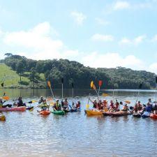 Remada de aniversário retoma esportes nas barragens de Piraquara