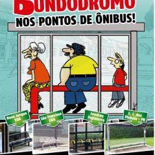 Com bom humor, Rasca lança campanha para que pontos de ônibus de Curitiba tenham bancos