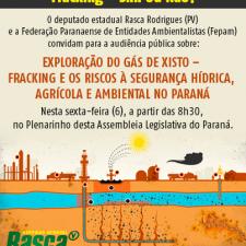 Audiência pública debaterá riscos ambientais na exploração do gás de xisto no Paraná