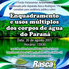 Reclassificação dos rios do Paraná será tema de audiência pública na ALEP