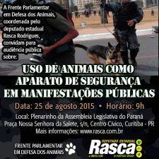 AUDIÊNCIA PÚBLICA: Audiência pública discutirá o uso de animais pela PM em manifestações públicas