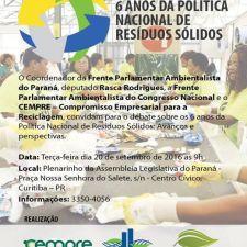Frente Ambientalista debaterá os 6 anos da Política de Resíduos Sólidos