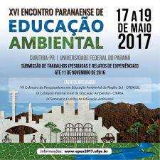 XVI Encontro Paranaense de Educação Ambiental recebe resumos até 11 de novembro