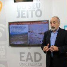 Fracking e sustentabilidade: ambientalista grava palestra sobre exploração de gás xisto