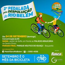 """""""Mês da Bicicleta"""" terá a 2ª Pedalada pela Despoluição do Rio Belém"""