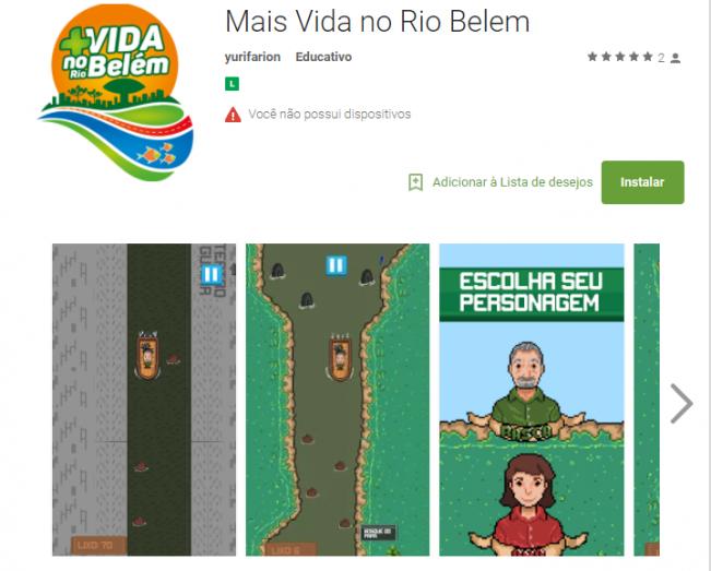 Jogo que tem como tema a despoluição do Rio Belém será lançado nesta sexta-feira (24)