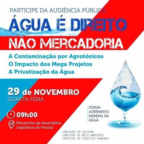Audiência Pública: Água é Direito Não Mercadoria