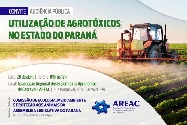 Cascavel recebe audiência pública para discutir o uso excessivo de agrotóxicos no Paraná