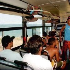 Lei 17.956/2014 - Transporte de pranchas liberado nos ônibus do litoral