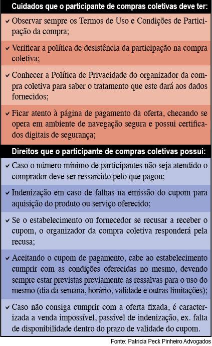 tabela peck2 Saiba como evitar problemas legais com sites de compras coletivas